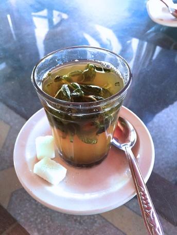 Mint tea on our way to Essaouira