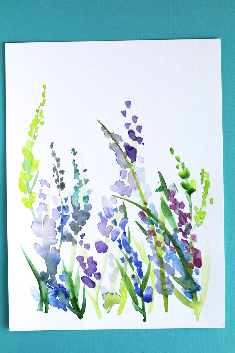 20July17Paintinglavender
